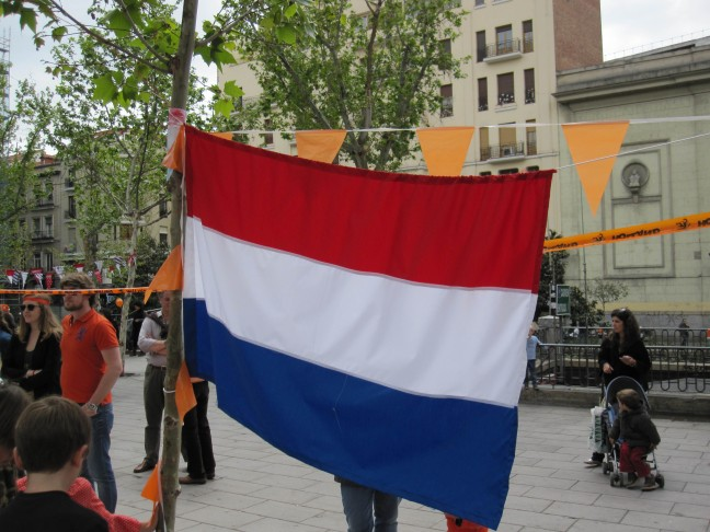 Koninginnendag in Madrid