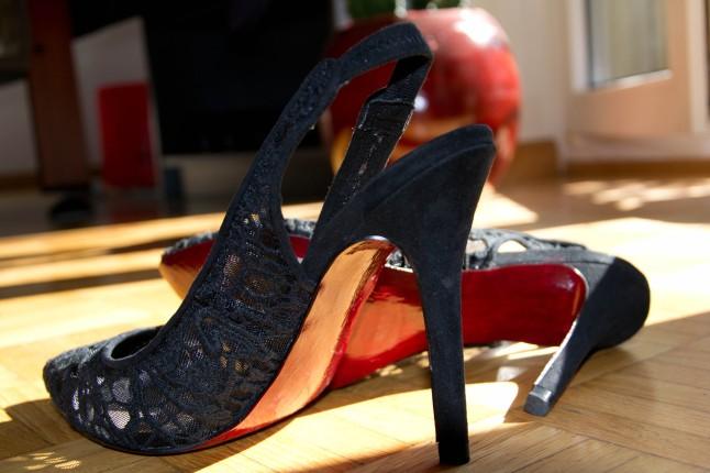 DIY red soles Zara