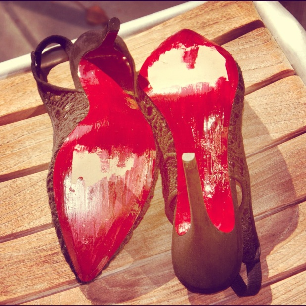 DIY red soles Zara
