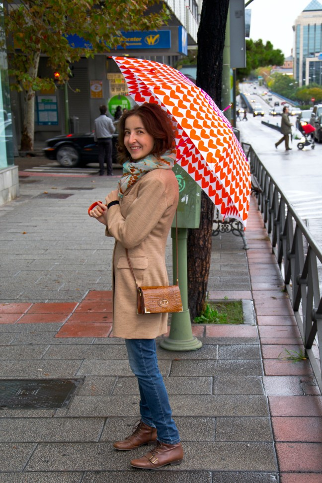 Madrid Street Style in the Rain