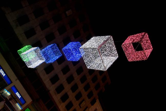 christmas decoration lights madrid