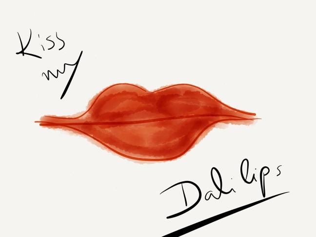 Illustration dali lips