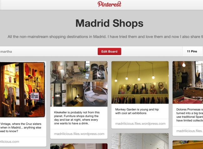 pinterest madrid shops