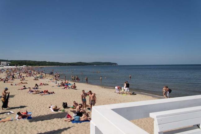 Beach Sopot Molo Gdansk Poland