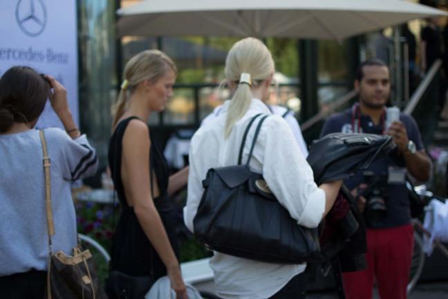 Stockholm Fashion Week Street Style Blond