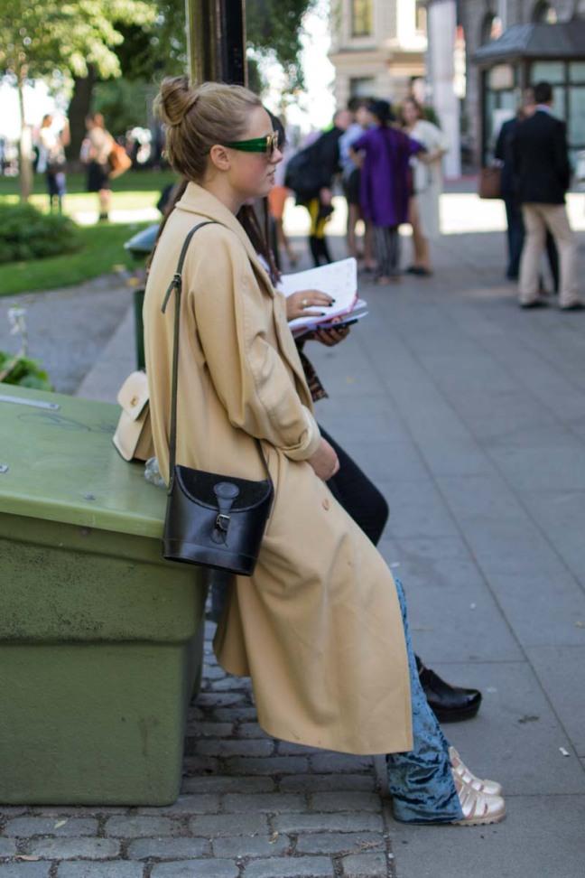 Stockholm Fashion Week Camel Coat