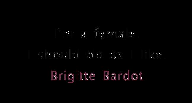 Bardot being female