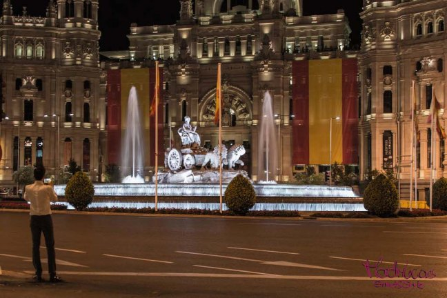 Madrid Cibeles Night Photography